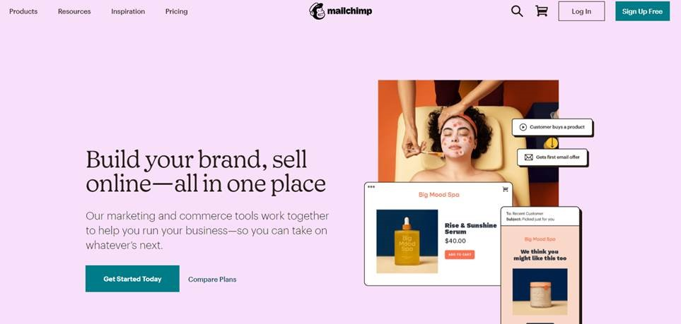 The online marketing & commerce tools by Mailchimp helps to build your brand and selling stuff online in one place